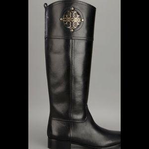 Tory Burch Black Riding Boots 8